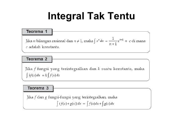 Integral Tak Tentu
