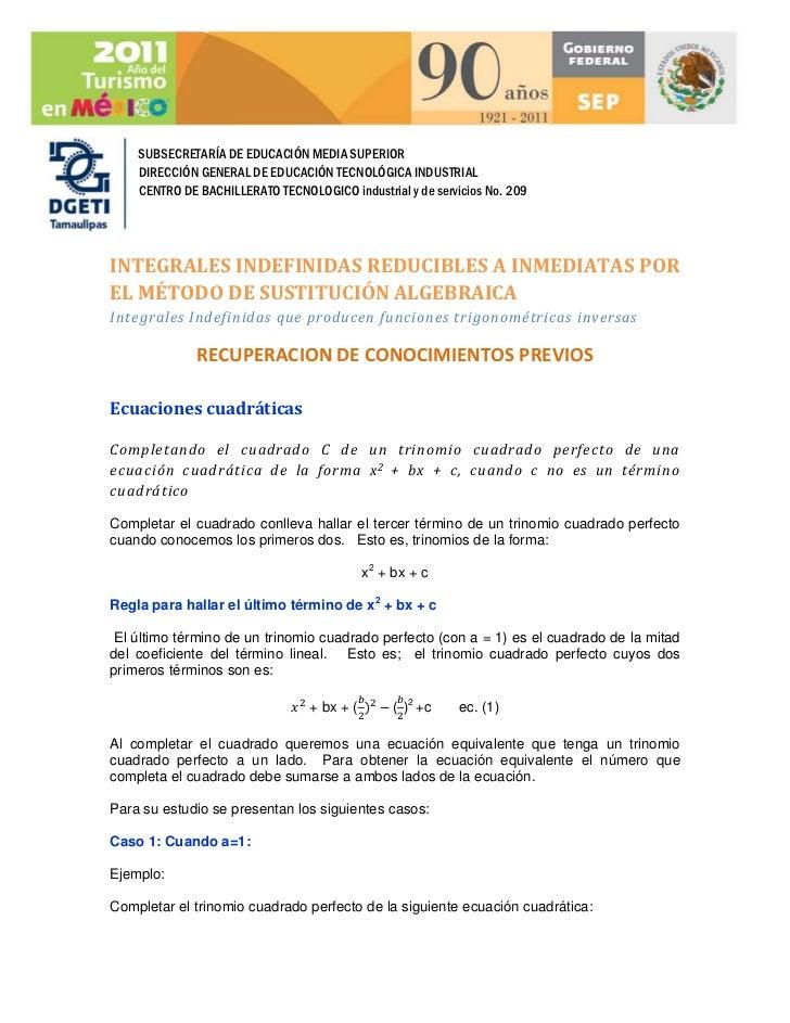 SUBSECRETARÍA DE EDUCACIÓN MEDIA SUPERIOR    DIRECCIÓN GENERAL DE EDUCACIÓN TECNOLÓGICA INDUSTRIAL    CENTRO DE BACHILLERA...