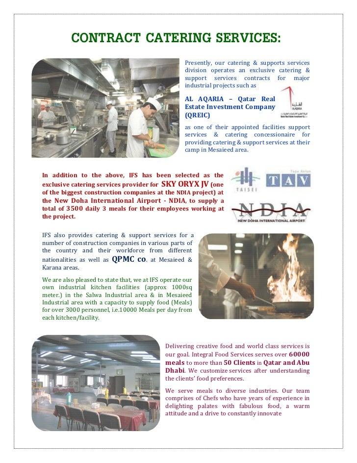 Integral Food Services W L L Company Profile