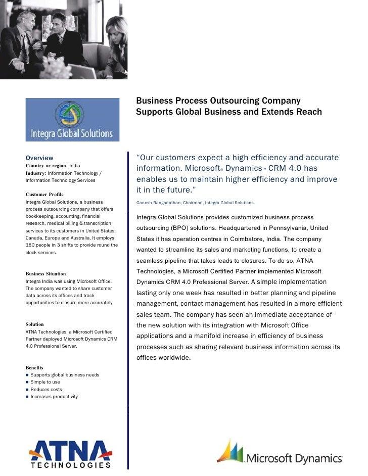 Microsoft Dynamics                                               Customer Solution Case Study                             ...