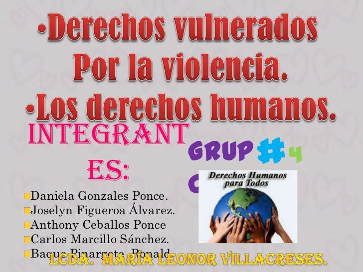 Integrant         Grup # 4    es:  oDaniela Gonzales Ponce.Joselyn Figueroa Álvarez.Anthony Ceballos PonceCarlos Marcillo ...
