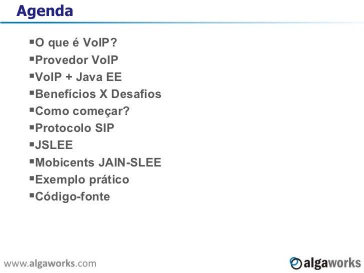 Integração Java EE e VoIP Slide 2