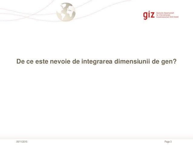 Integrarea dimensiunii de gen în proiectele de infrastructură Slide 3