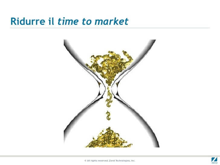 Ridurre il time to market               © All rights reserved. Zend Technologies, Inc.