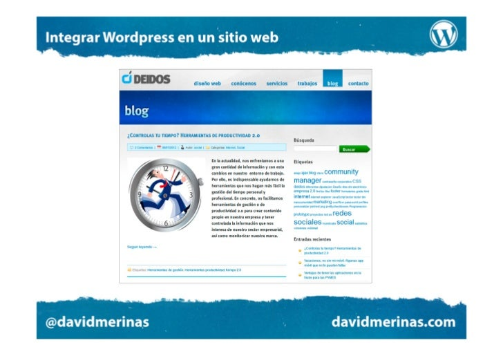 Integración en dos direcciones1- El blog debe adoptar el diseño visual de la web2- El resto del sitio debe ser capaz de mo...