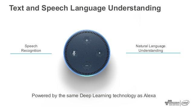 Text and Speech Language Understanding Speech Recognition Natural Language Understanding Powered by the same Deep Learning...