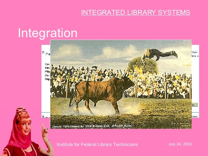 integrated library systems The integrated library system (ils) database administrator provides ils support for 33 sites has the primary responsibility for the performance, integrity, and security of the ils and integrated systems including database maintenance, system revisions, and updates.