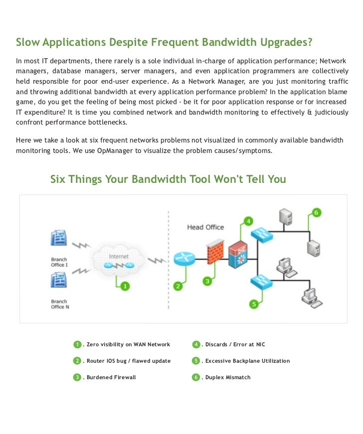 Slow Applications Despite Frequent Bandwidth Upgrades?In most IT departments, there rarely is a sole individual in-charge ...