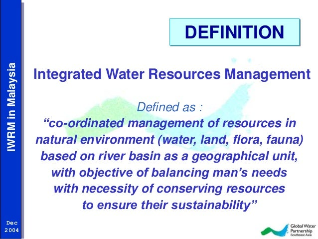 integrated water resource management Presentation by dr adrian cashman of the centre for resource management and environmental studies (cermes) at the 5th high level session ministerial forum of.