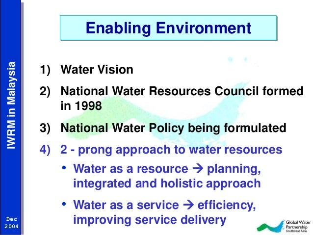 water resources in malaysia Sustainability and the environment manifest in the water policy and water  management in malaysia the study examines two aspects of this topic firstly it.
