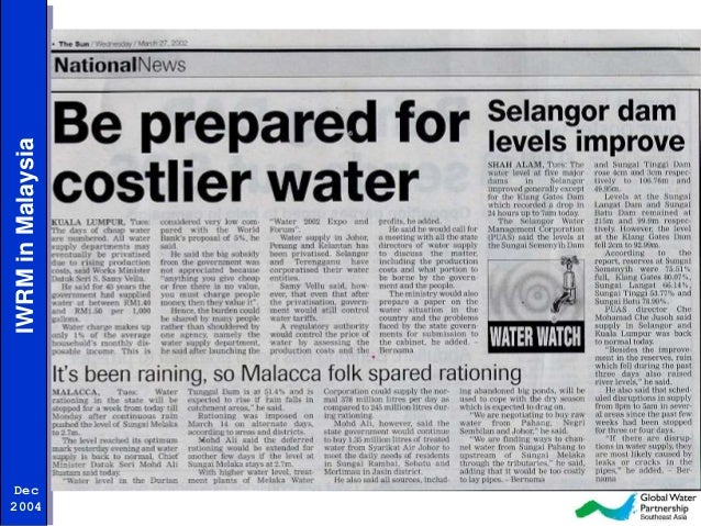 water resources in malaysia Malaysia also assumes a proactive posture in addressing the emerging regional and global issues the water unpolluted, the forest resources capable of.