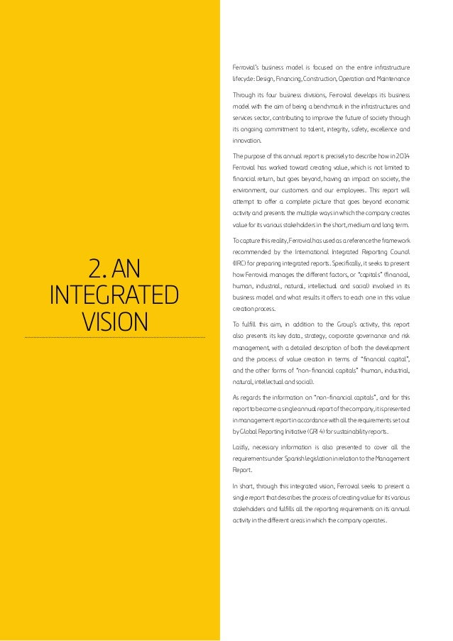 Integrated Annual Report Ferrovial 2014