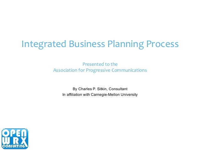 Integrated Business Process : Integrated business planning process
