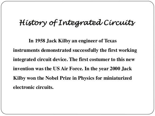 integrated circuit rh slideshare net integrated circuit history cold war Integrated Circuits 1960s