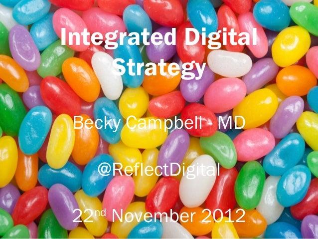 Integrated Digital     Strategy Becky Campbell - MD   @ReflectDigital 22nd November 2012