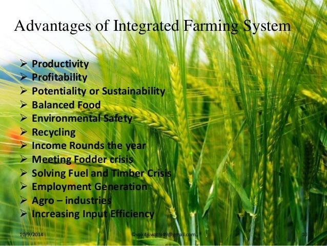 integrated farming system Integrated farming system model for bhadra command doi: 109790/2380-08425860 wwwiosrjournalsorg 59 | page.