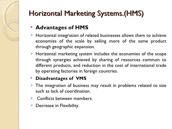 disadvantages of horizontal marketing system