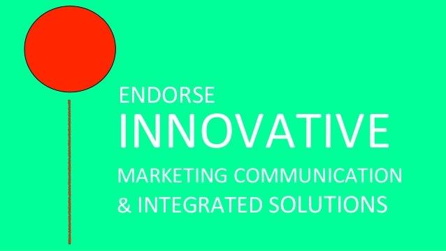 INNOVATIVE MARKETING COMMUNICATION  6. Innovative Marketing Communication
