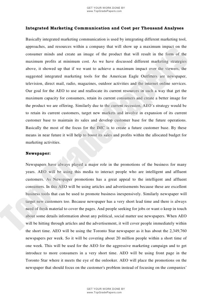 Marketing management research papers