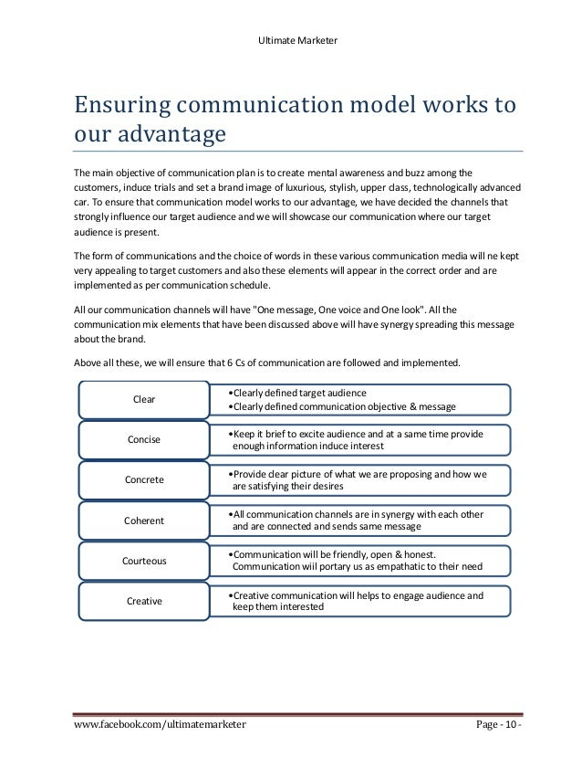 Integrated marketing communication plan for tata prima