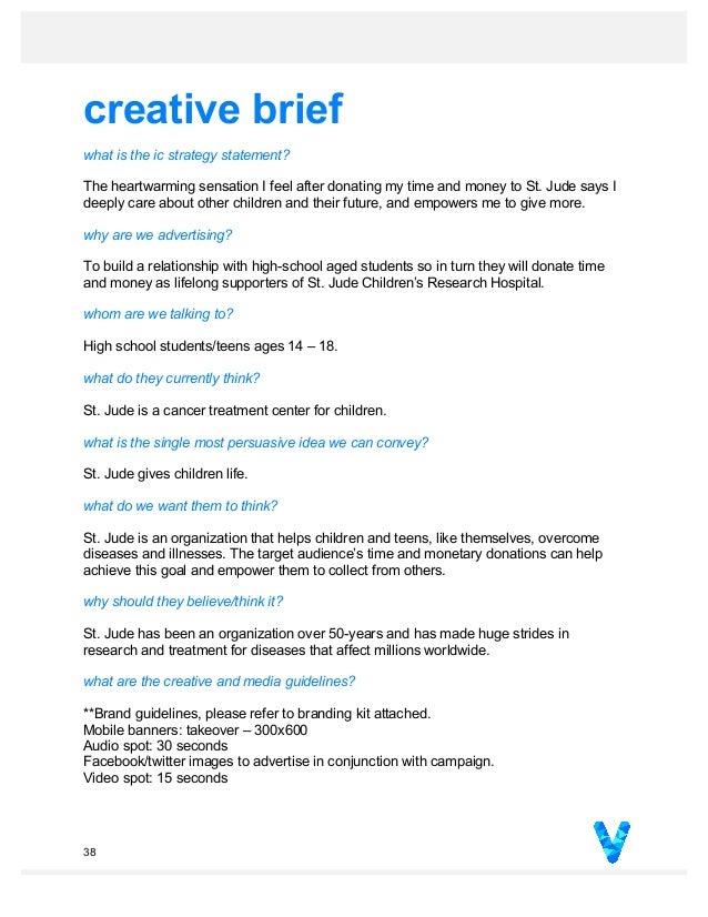 creative brief for an imc campaign