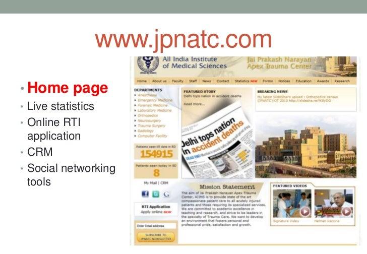 Integrated online portal for aiims trauma centre Slide 3