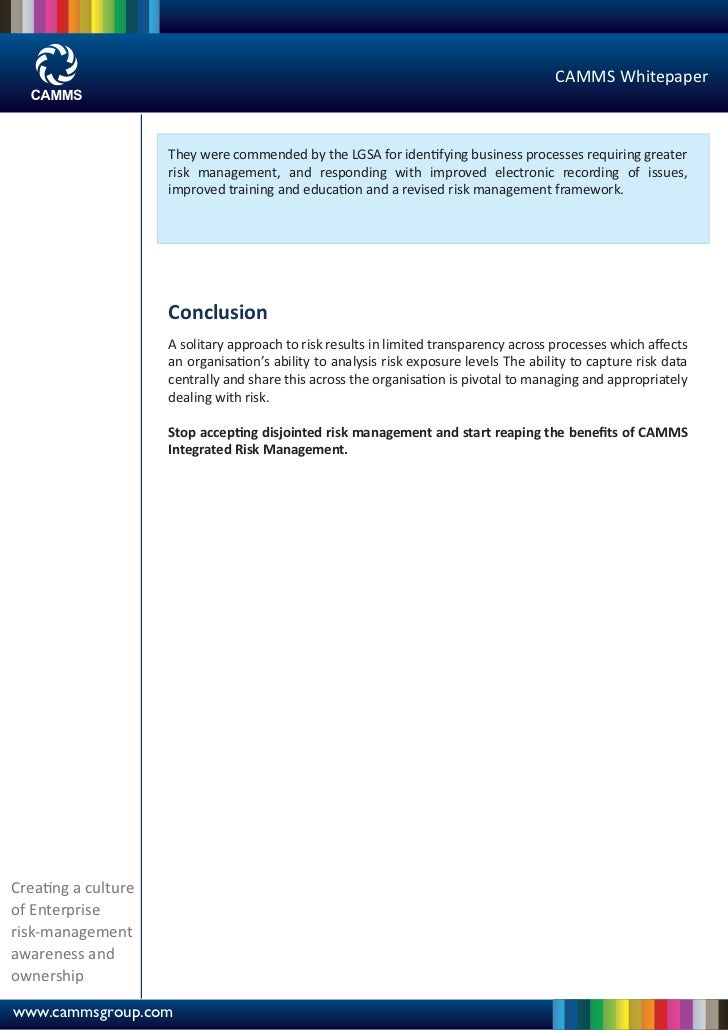 Integrated Risk Management Whitepaper - CAMMS