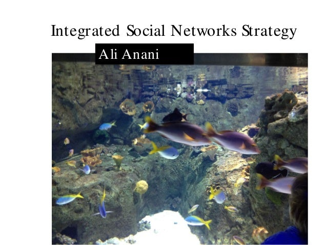 Integrated Social Networks Strategy      Ali Anani