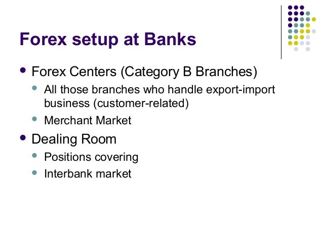 Forex operations in banks
