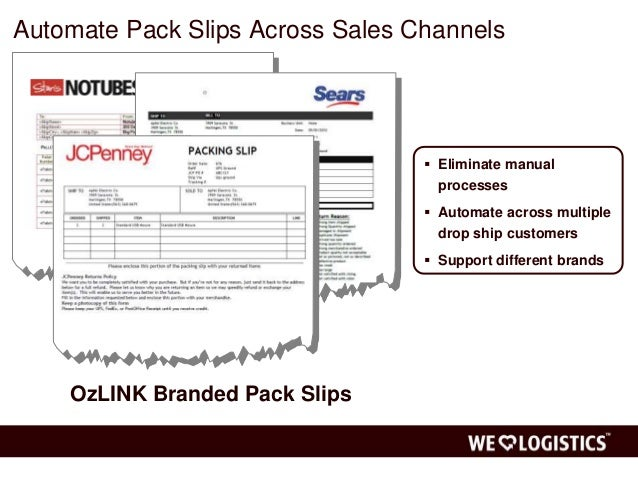... 13. Automate Pack Slips ...  Packing Slips For Shipping