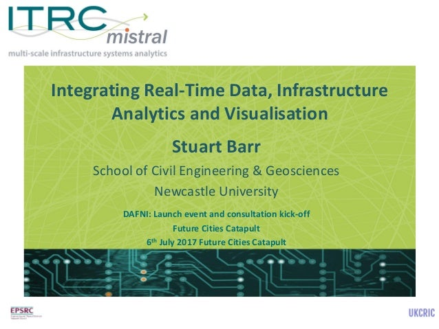 Integrating Real-Time Data, Infrastructure Analytics and Visualisation Stuart Barr School of Civil Engineering & Geoscienc...