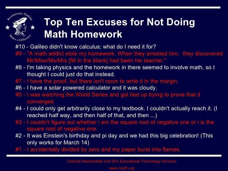 Ten reasons to do homework