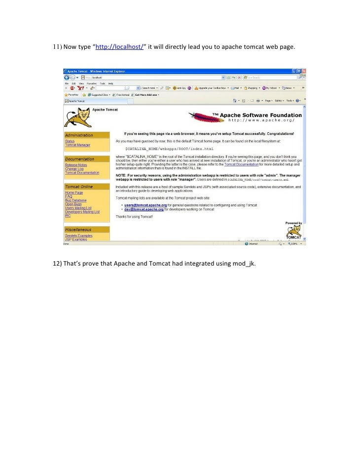 how to use apache tomcat