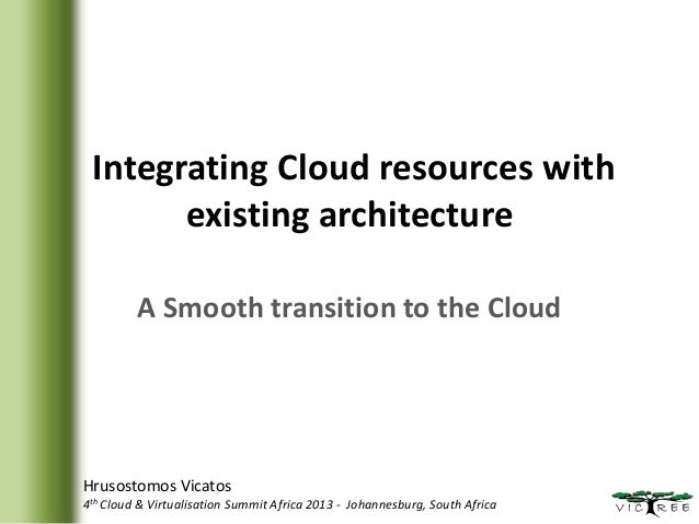 Integrating Cloud resources with existing architecture A Smooth transition to the Cloud  Hrusostomos Vicatos 4th Cloud & V...
