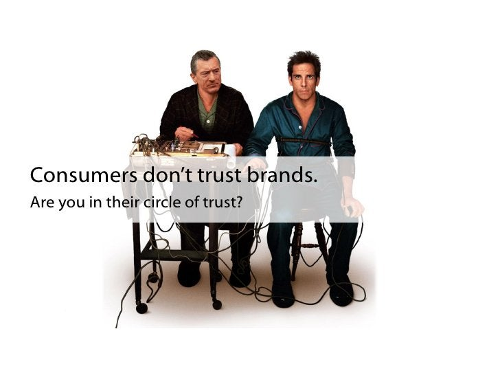 Consumer trust each other.