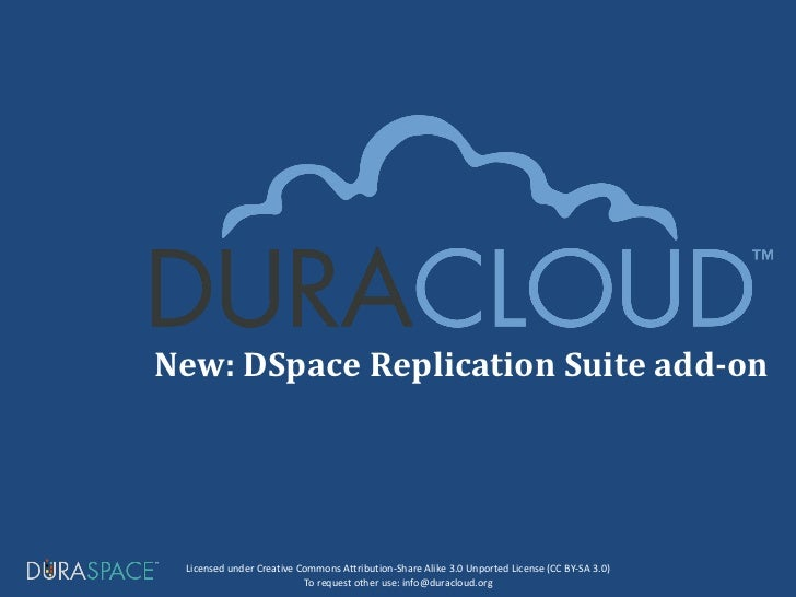 New: DSpace Replication Suite add-on