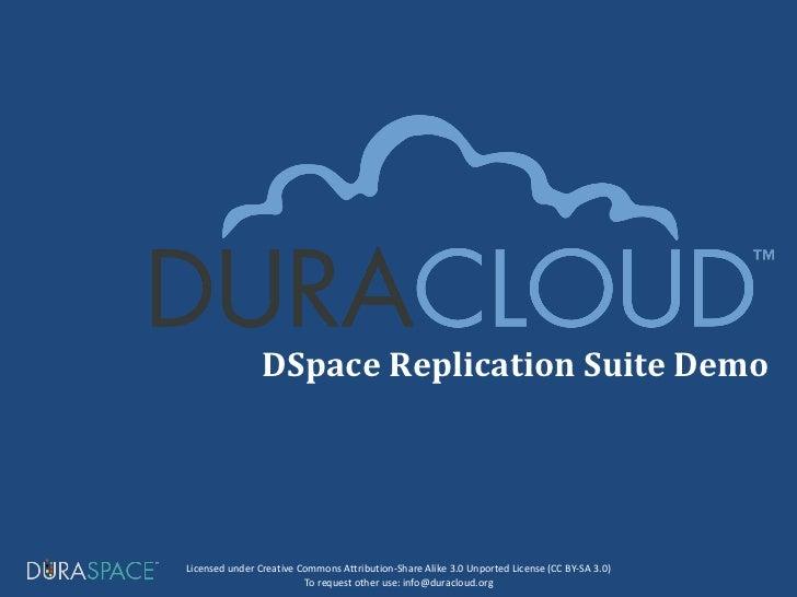 DSpace Replication Suite Demo