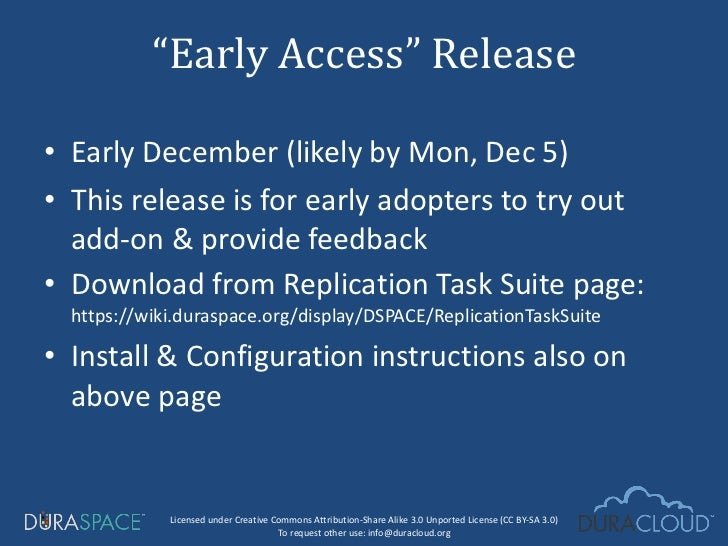 <ul><li>Early December (likely by Mon, Dec 5) </li></ul><ul><li>This release is for early adopters to try out add-on & pro...