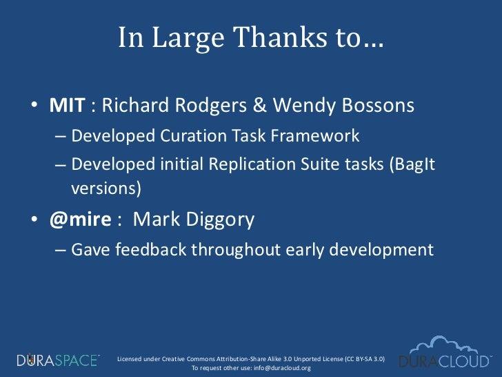 <ul><li>MIT  : Richard Rodgers & Wendy Bossons  </li></ul><ul><ul><li>Developed Curation Task Framework </li></ul></ul><ul...