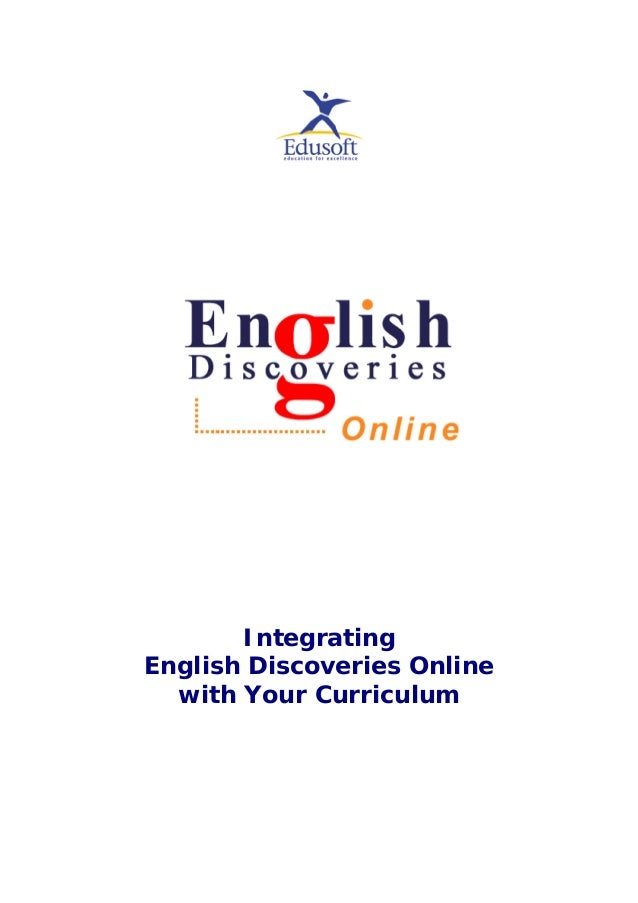 Integrating English Discoveries Online with Your Curriculum