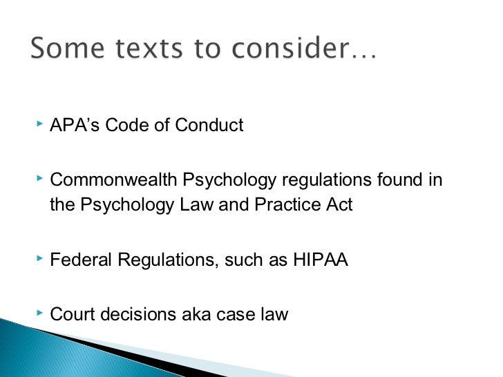 The Apa Ethical Principles for Psychologists and Code of Conduct
