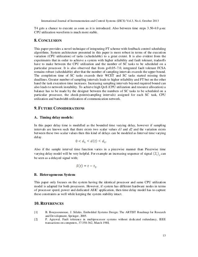 International Journal of Instrumentation and Control Systems (IJICS) Vol.3, No.4, October 2013  T4 gets a chance to execut...