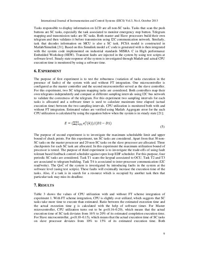 International Journal of Instrumentation and Control Systems (IJICS) Vol.3, No.4, October 2013  Tasks responsible to displ...