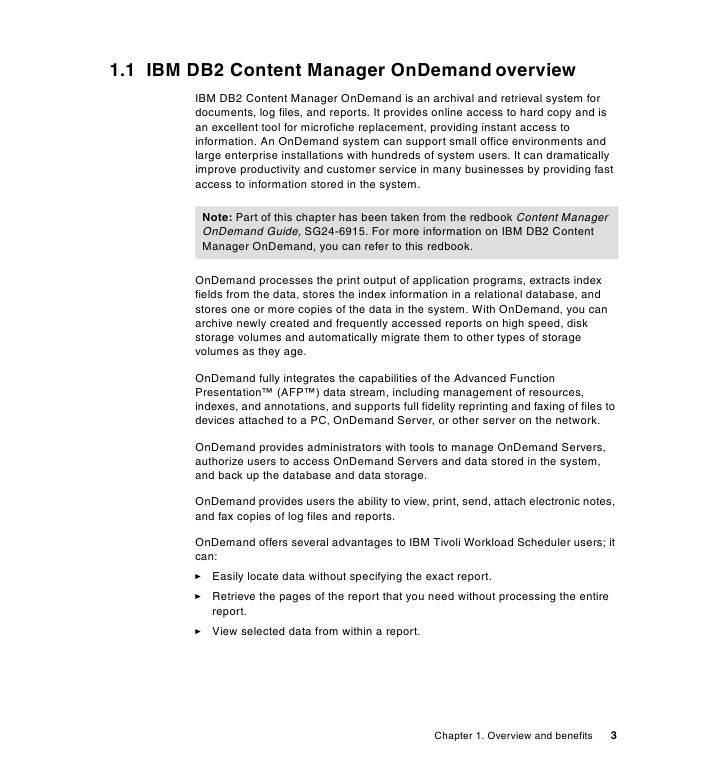 Integrating Ibm Tivoli Workload Scheduler And Content Manager On Dema