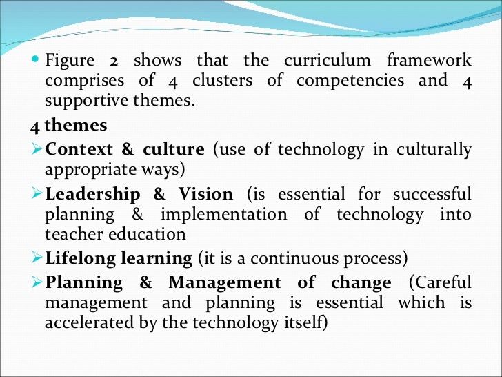 <ul><li>Figure 2 shows that the curriculum framework comprises of 4 clusters of competencies and 4 supportive themes. </li...