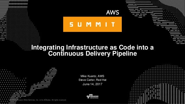 © 2015, Amazon Web Services, Inc. or its Affiliates. All rights reserved. Mike Kuentz, AWS Steve Carter, Red Hat June 14, ...