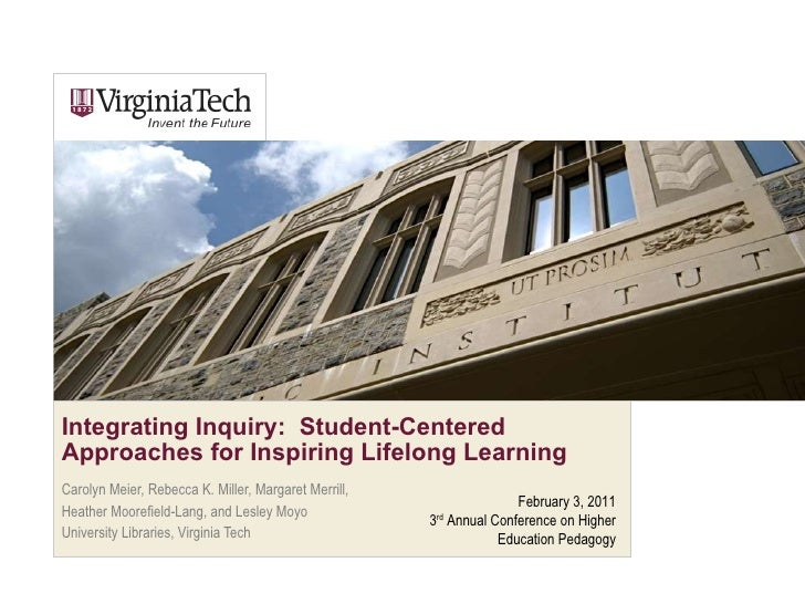 Integrating Inquiry:  Student-Centered Approaches for Inspiring Lifelong Learning Carolyn Meier, Rebecca K. Miller, Margar...