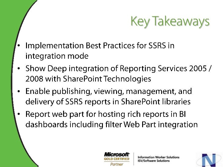 Integrating MOSS 2007 with SSRS 2005/2008 Slide 2