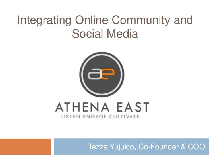 Tezza Yujuico, Co-Founder & COO<br />Integrating Online Community and Social Media<br />