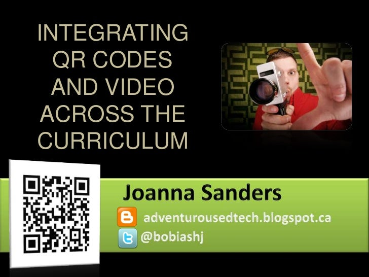 INTEGRATING  QR CODES  AND VIDEO ACROSS THECURRICULUM